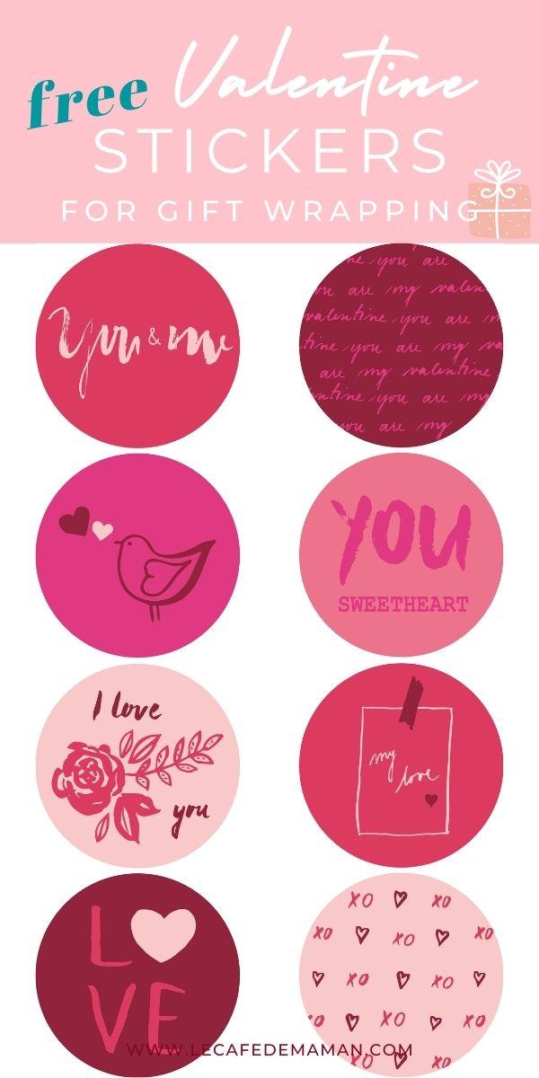 valentine printable stickers