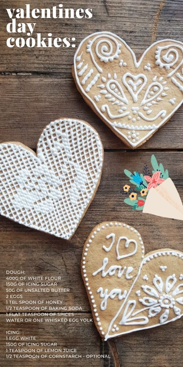 valentines day heart cookies recipe
