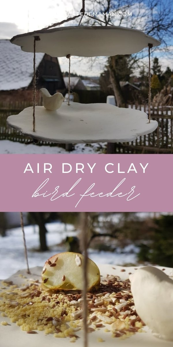 diy clay bird feeder