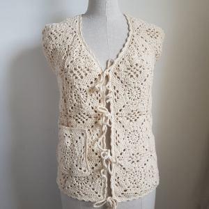 granny squares crochet waistcoat