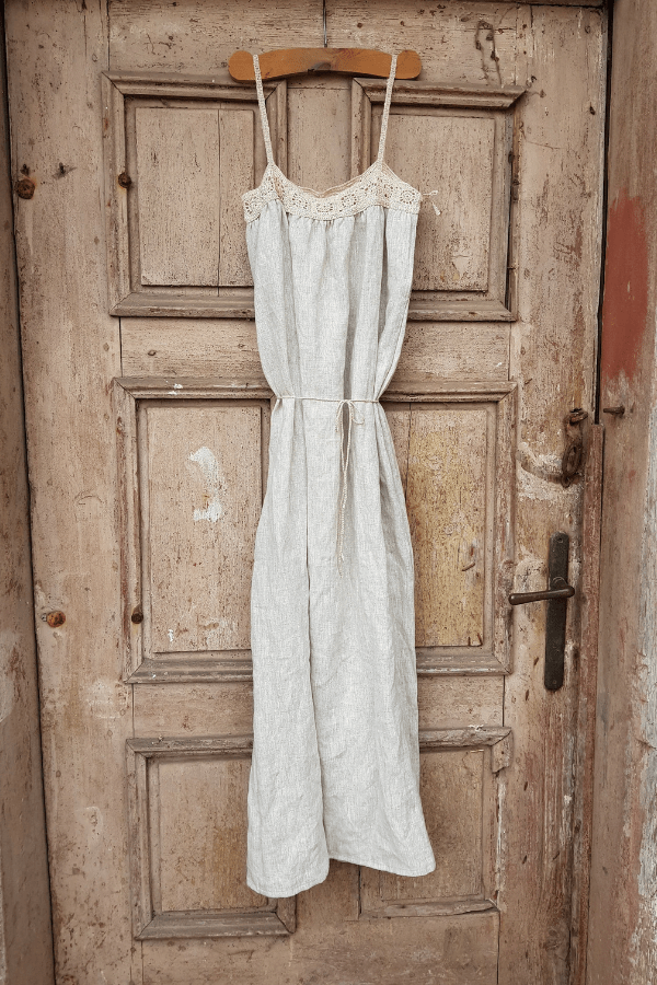 Clemence crochet linen summer dress