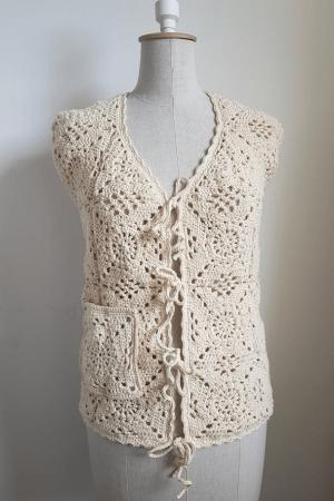 granny squares cotton waistcoat