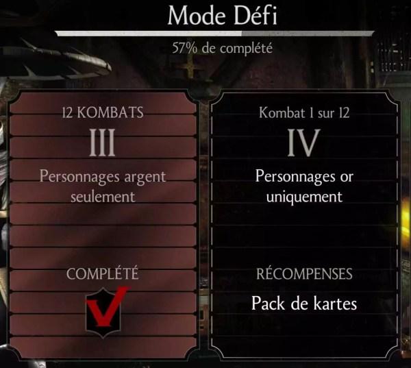 Mode défi