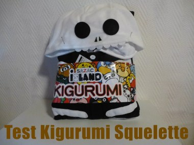 Packaging du Kigurumi squelette