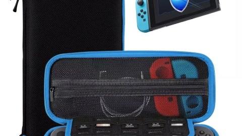Housse de Transport Nintendo Switch + Protecteur D'écran en Verre Trempé