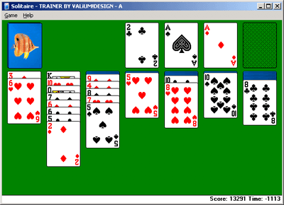Le Solitaire sous Microsoft Windows XP