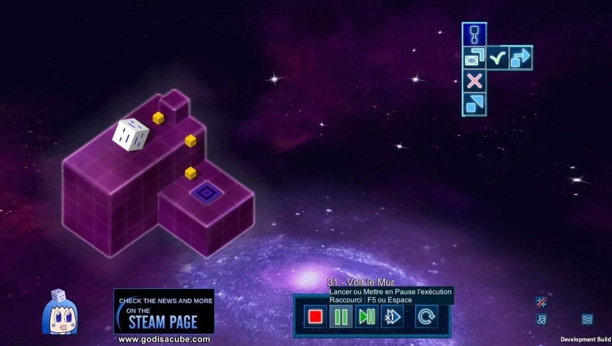 Le cube divin avance avec logique