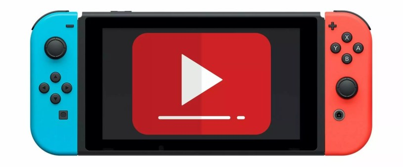 YouTube sur Nintendo Switch