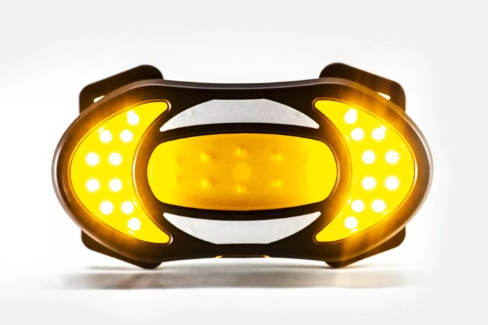 Exemple du dispositif pour moto repris pour Clic-Light Cycle