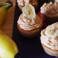 Cupcakes banane et beurre de cacahuète - vegan et sans gluten