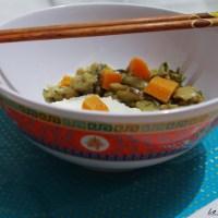 Curry vert aubergine et patate douce - Vegan