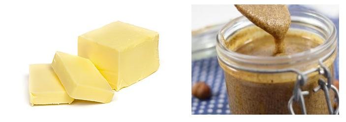 Différence nutritionnelle entre le beurre et la purée d'amande