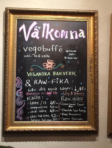 Hermans Stockholm - restaurant végétarien - dessert cru et vegan