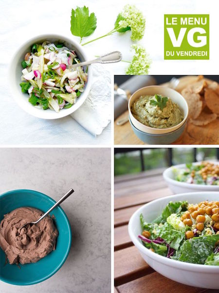 Tout un repas pris dans des bols, c'est le menu VG du vendredi !