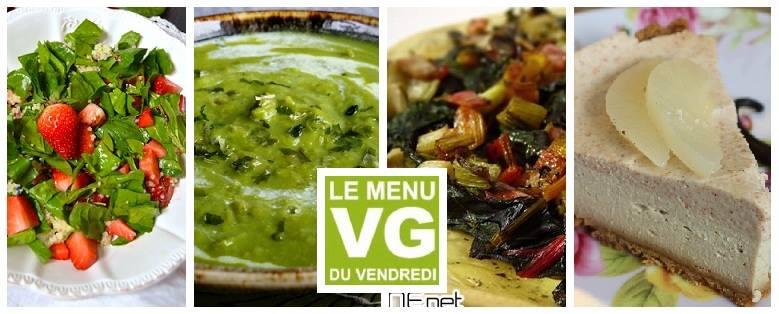Menu VG du vendredi – Printanier tout vert