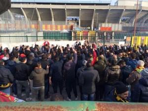 TIFOSI PROTESTA Benevento-Prato