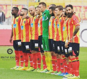 Lecce squadra schierata