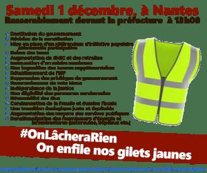 Manifestations à Nantes le 1er décembre