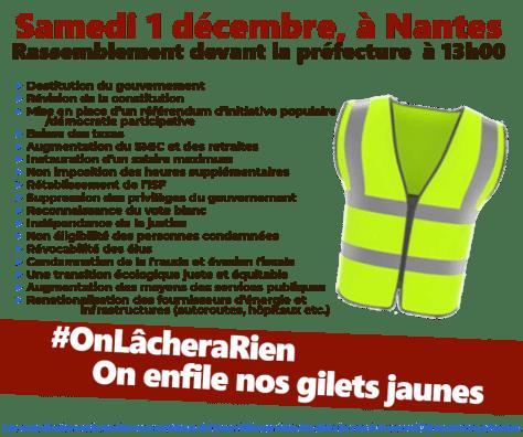 samedi 1er décembre manifestation à nantes