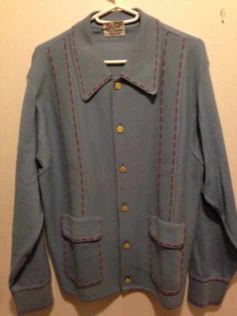 ヴィンテージのデザインを再生したニットジャケット。DUFFERの人気アイテムだった。当時はmade in Italy.