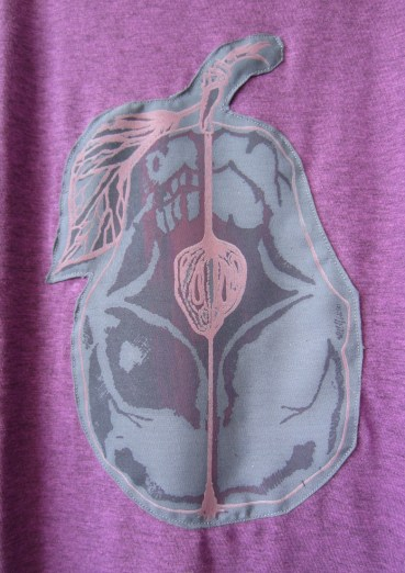 Rotten Pear - Unisex, Pink Grey, XS+S+M+L, Detail