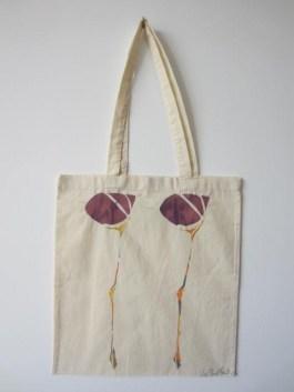 Scottish Flower - Hand-Printed Bag, Cream II