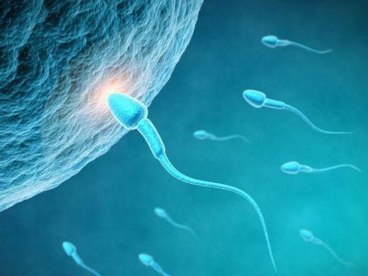 После секса на лице брюнетки с кольцом на пальце появилась сперма