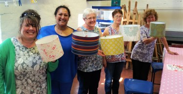 Lampshades at New Brewery Arts