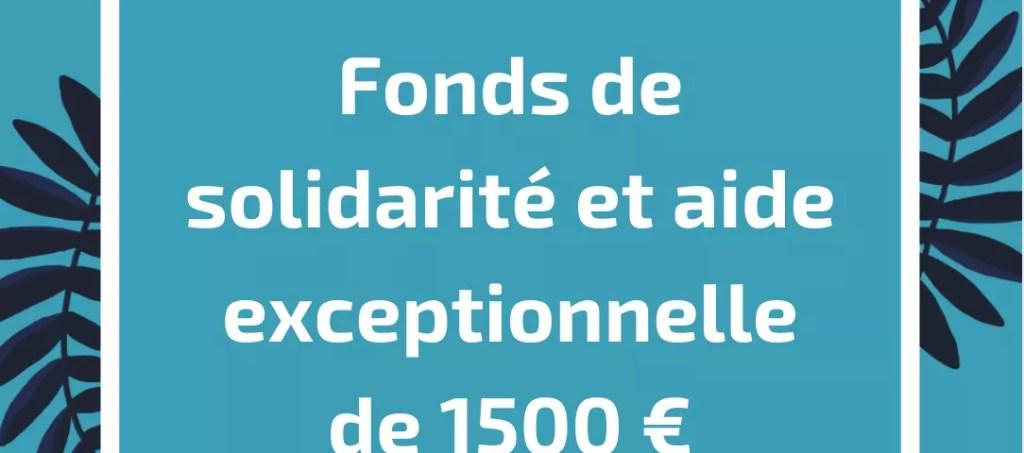 aide de 1500 € commerces