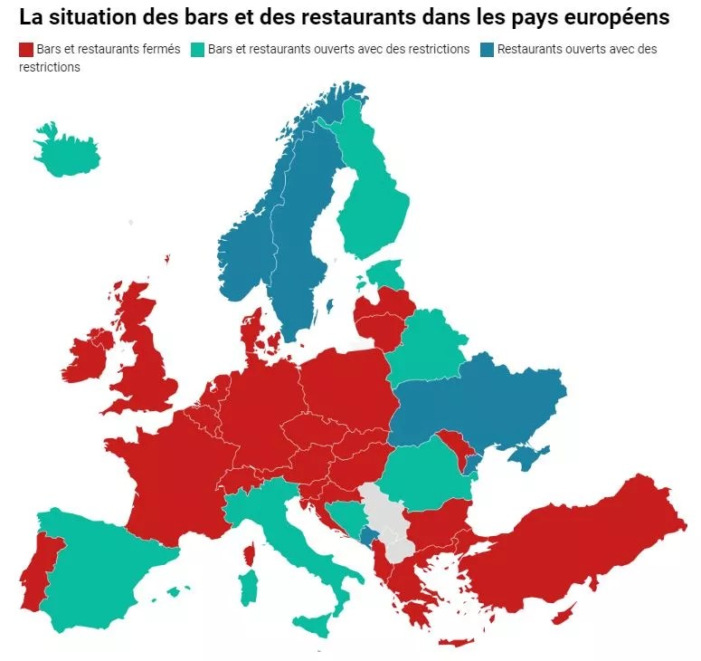bars et restaurants en Europe