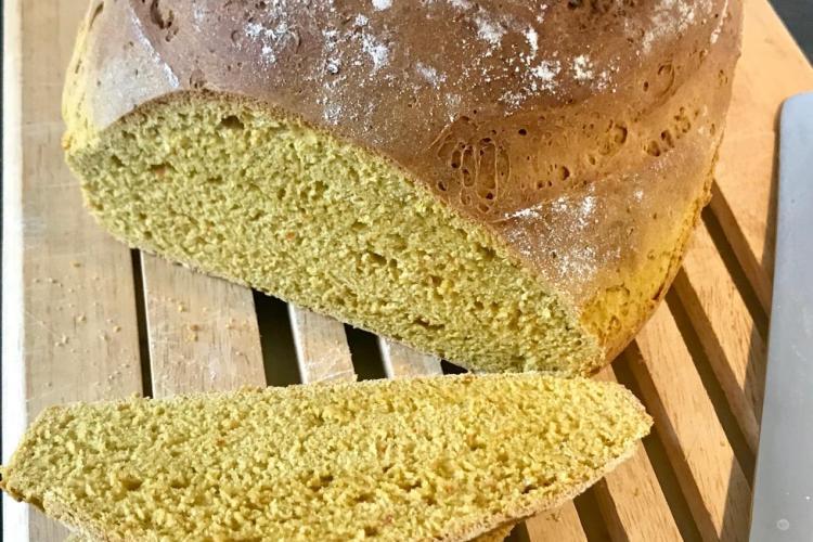 Brot aus Kürbisteig