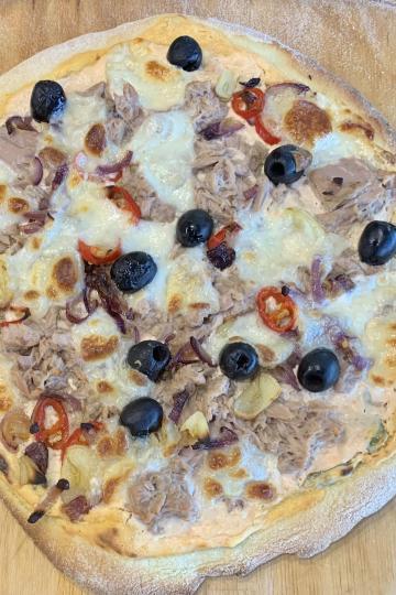 Pizza Tonno-Mascarpone