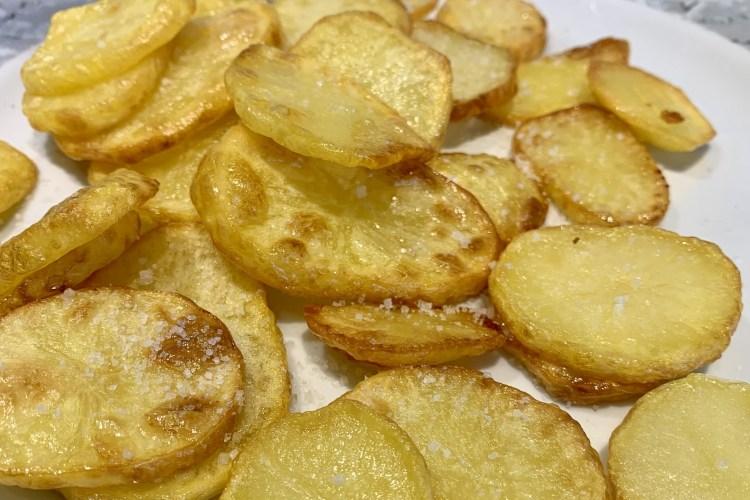 Griechische Knoblauch Kartoffeln