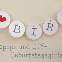 Cakepops und Happy Birthday Girlande