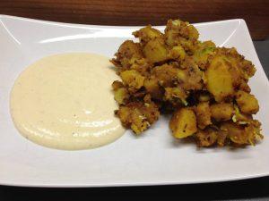 Knusprige Gewürz Kartoffel indisch