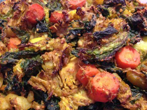 Gemüse Tarte mit Kartoffel Bohnen Teig glutenfrei, vegan
