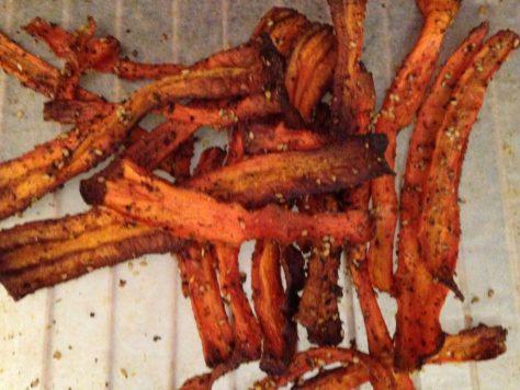 Gemüsechips aus Karotten