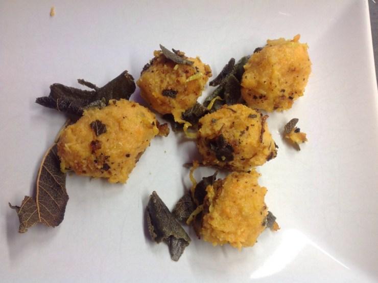Süßkartoffel Gnocchi mit Zitronen Salbei