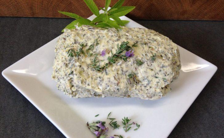 Lavendel Thymian Butter mit Zitronenverbene