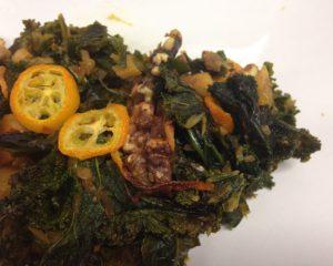 Grünkohl mit Ingwer und Orangen