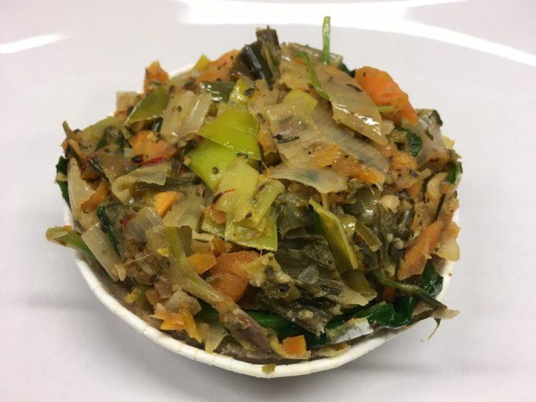 Spinat Lauch Tarte mit Haselnüssen und Orange