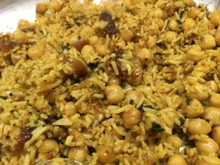 Curry Kichererbsen Reis