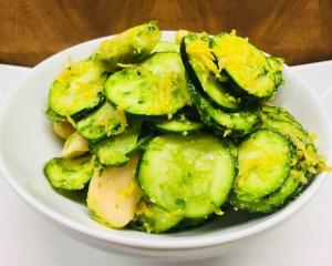 Zucchini mit Weißen Bohnen und Bärlauch Pesto