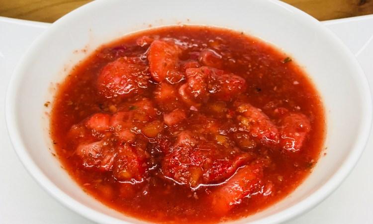 Erdbeer Chutney mit Ingwer und Chili