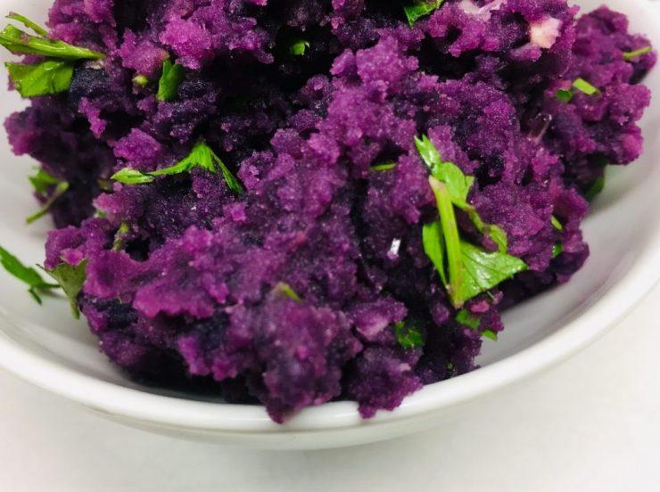 Crushed Purple Potatoes - Lila Kartoffel Püree