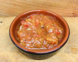 Tomaten Chutney mit Feigen, Datteln, Safran und Harissa
