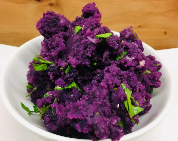 Crushed Purple Potatoes - Lila Kartoffel Püree