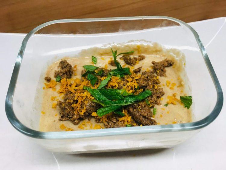 Kaki Cashew Creme mit Mohnstreusel