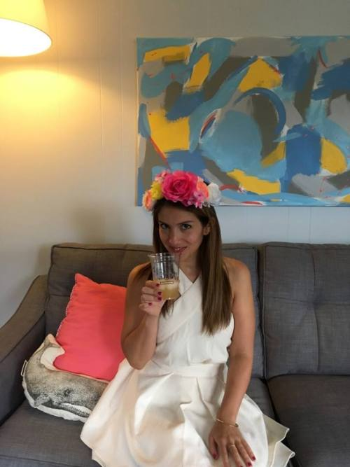I even got to wear a real-life Snapchat filter at my bachelorette party