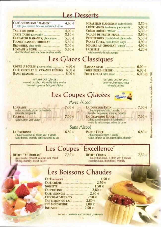 menus du restaurant au bureau page 05